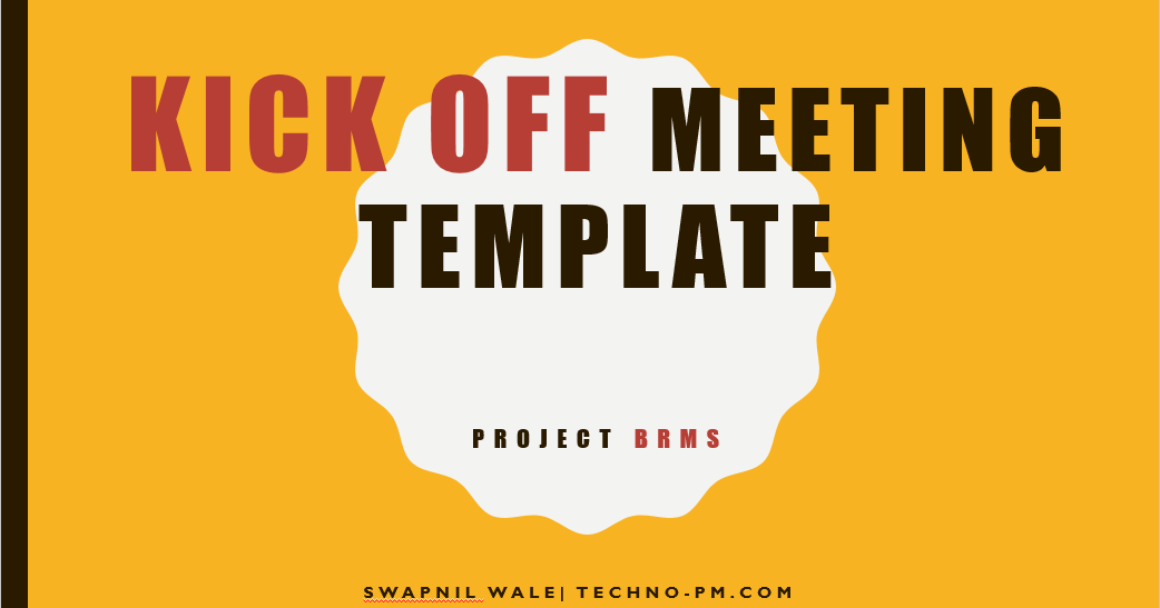 project kickoff meeting template ppt free download