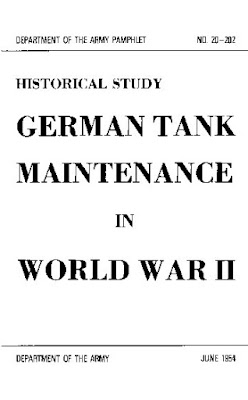 German Tank Maintenance in World War II, June 1954