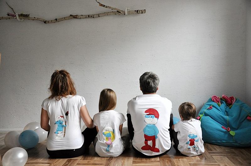 SMERFNE KOSZULKI – ręcznie malowane postaci Smerfów