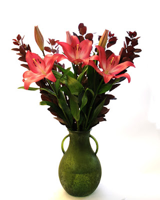 Lily and cotinus bouquet