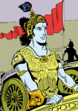 Krishna on chariot