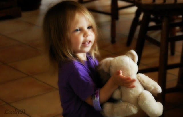granddaughter with her bear: LadyD Books