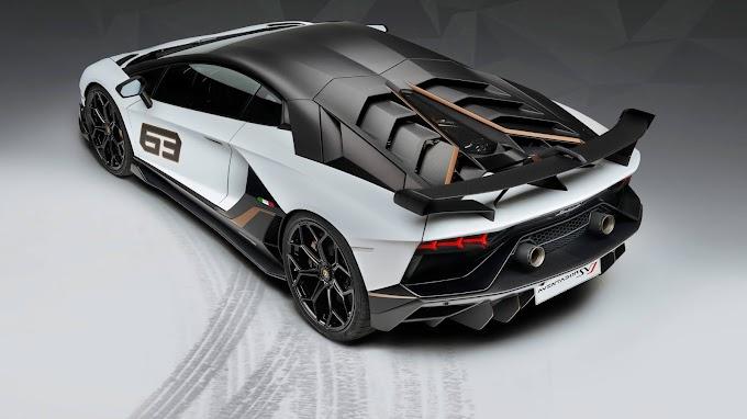 Lamborghini Aventardor Branco e Preto