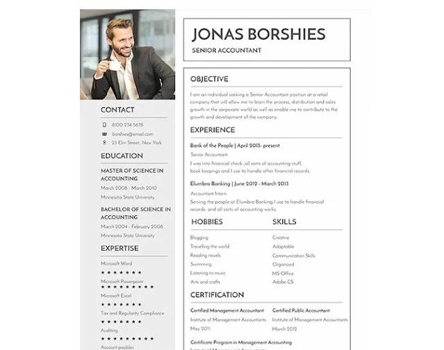Download Template CV word Simple