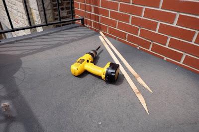 cedar shim dewalt screw gun drill cordless balcony repair