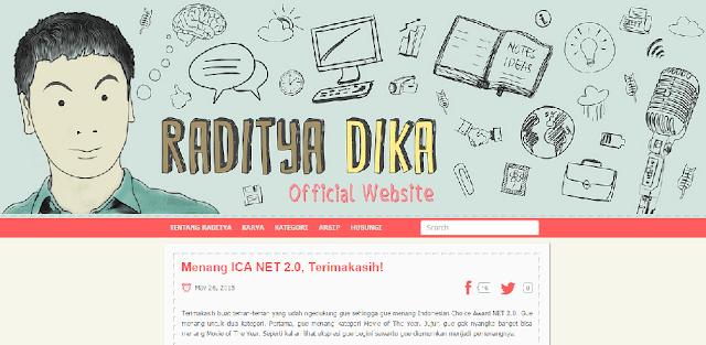 Blog Raditya Dika Radityadika.com - Blog Pribadi Terbaik Di Indonesia