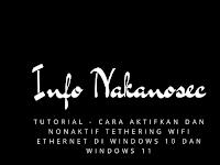 Tutorial - Cara Aktif dan Nonaktif Tethering Wifi Ethernet di Windows 10 dan Windows 11
