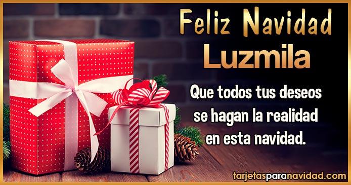 Feliz Navidad Luzmila