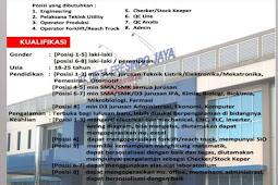 Lowongan Pekerjaan PT Tirta Fresindo Jaya  Plant Cianjur