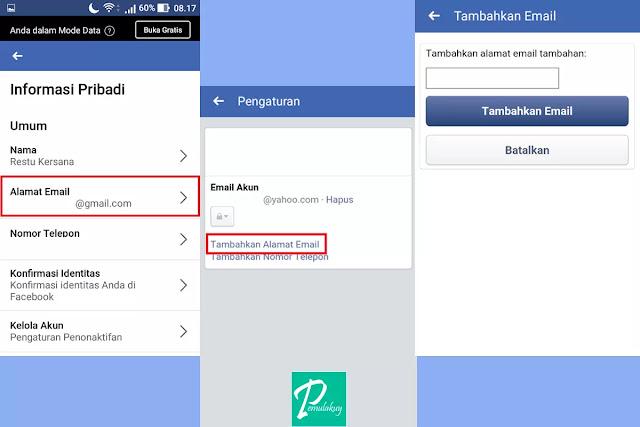 Cara Mengganti Email Facebook Lewat Aplikasi