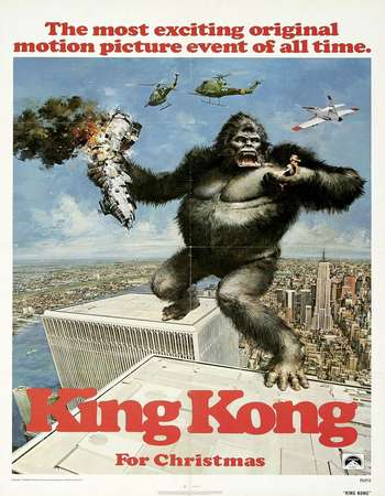 Poster Of King Kong 1976 Dual Audio 170MB BRRip HEVC Mobile ESubs Free Download Watch Online Worldfree4u