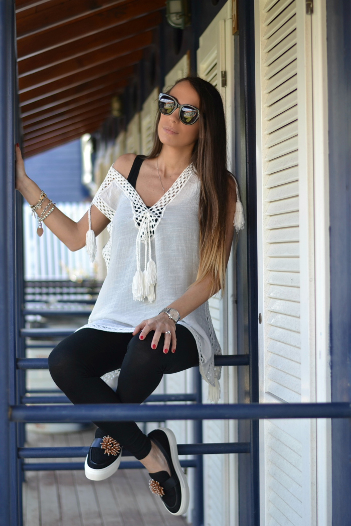 outfit top crochet
