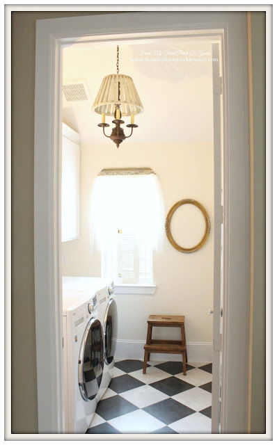 Laundry Room Makeover Farmhouse Cottage Style-From My Front Porch To Yours