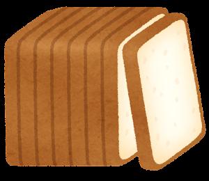 8枚に切られた食パンのイラスト