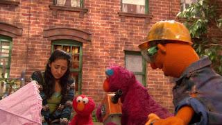 Nila, Telly, Elmo, Leela, Sesame Street Episode 4308 Don't Wake the Baby