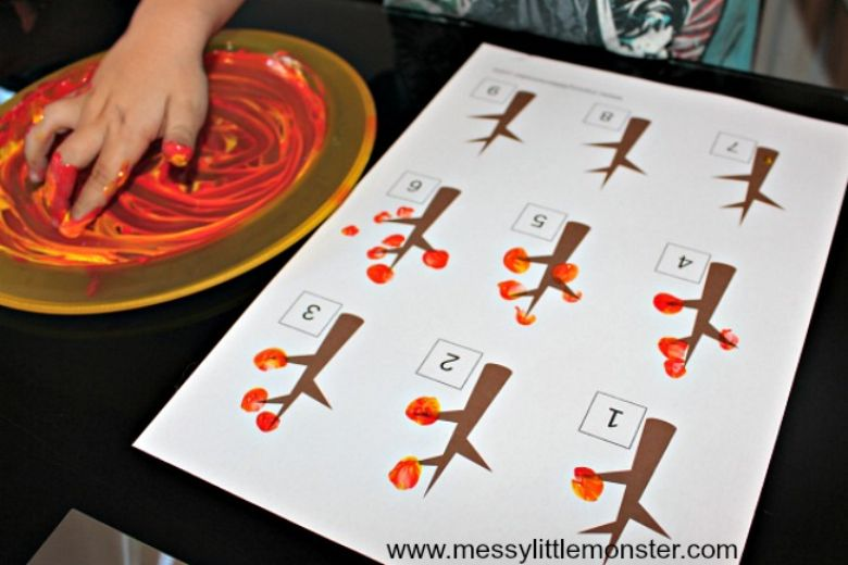 fall leaf autumn counting activity for kids
