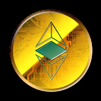 Ethereum Classicのフリー素材(金貨ver)