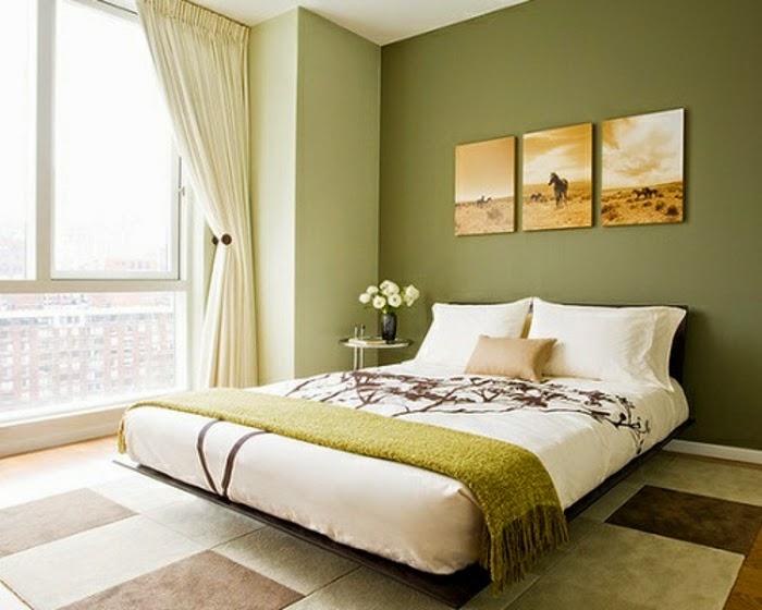 Habitaciones color verde dormitorios colores y estilos - Habitaciones juveniles pintadas ...