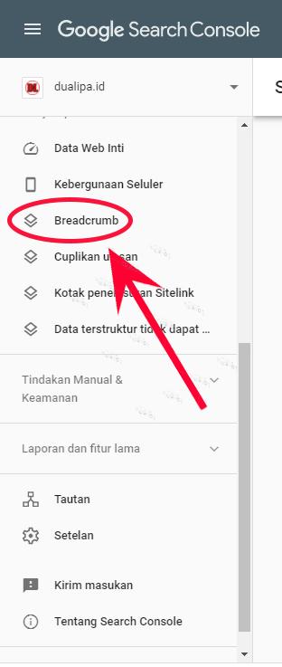 Cara Mengatasi  Error Breadcrumb di Google Search Console