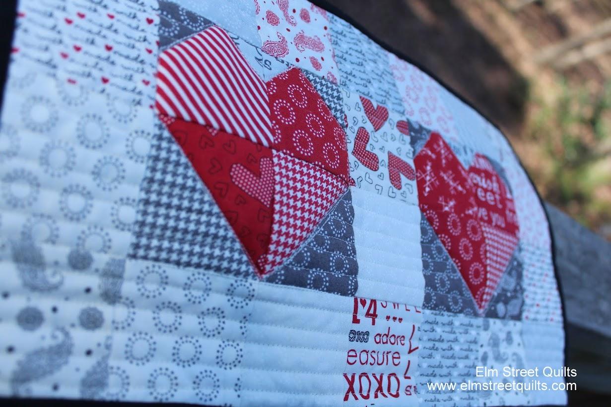 valentine mini quilt