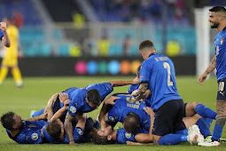 Klasemen Grup A Euro 2020: Italia vs Swiss 3-0, Azzurri Lolos ke 16 Besar