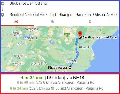 Bhubaneswar to Simlipal