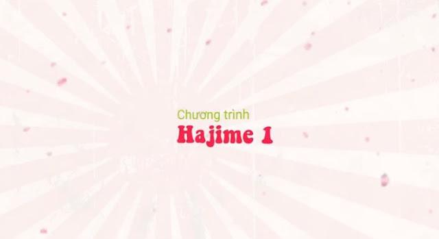 Khóa học tiếng Nhật cho người mới bắt đầu chương trình Hajime 1