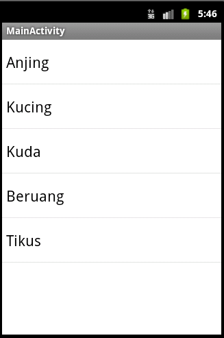 Membuat Listview | Tutorial Android
