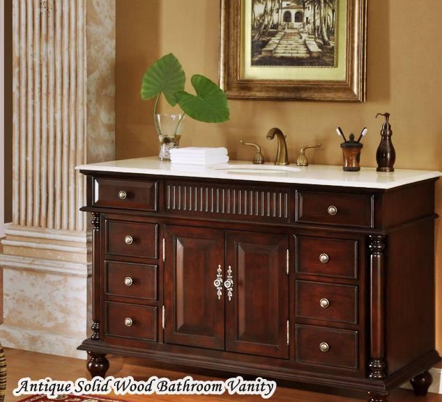 Antique Solid Wood Bathroom Vanities Made USA