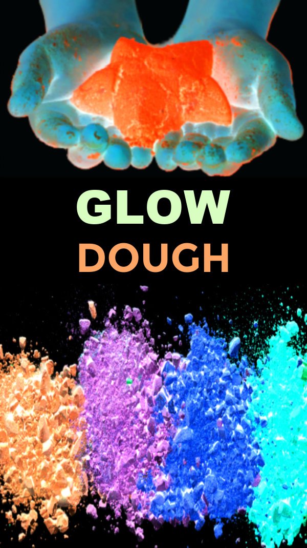 How to make glow-in-the-dark cloud dough for kids #glowinthedark #glowinthedarkclouddough #clouddough #clouddoughrecipe #growingajeweledrose #activitiesforkids