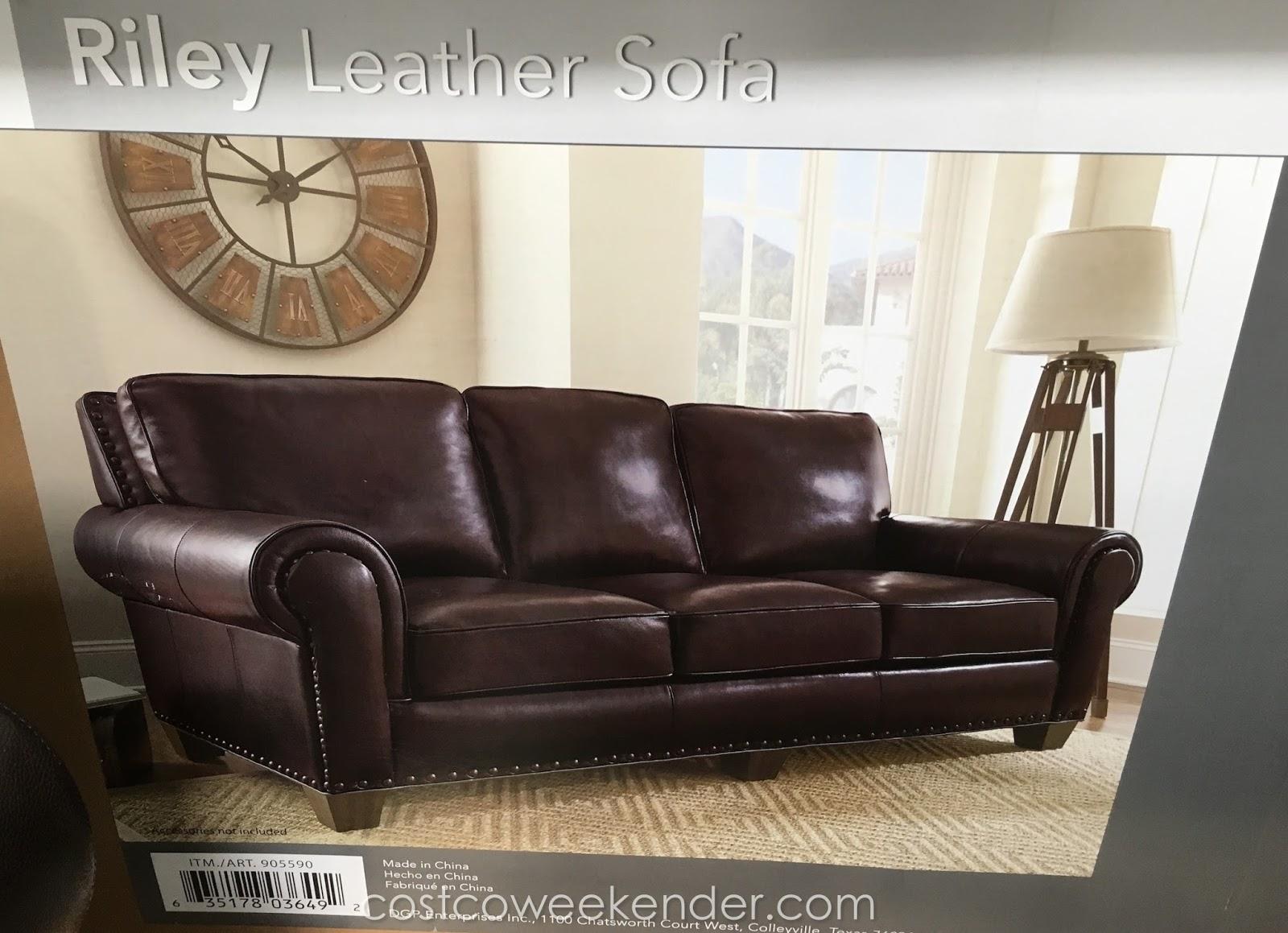 Adalyn Home Riley Leather Sofa Clic Yet Stylish