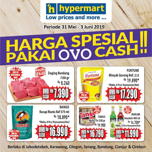#Hypermart - #Promo Harga Spesial Pakai OVO Cash Periode 31 Mei - 03 Juni 2019