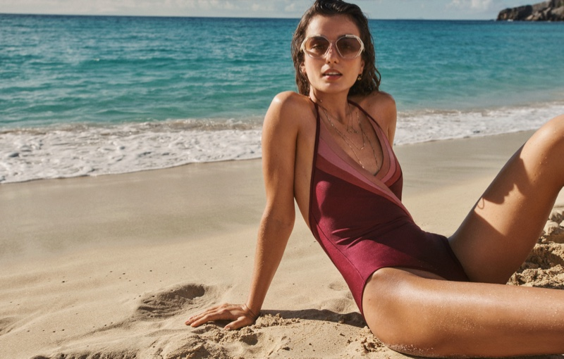 Zimmermann features Cassia sunray one-piece in summer swim 2021 campaign.