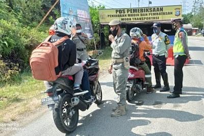 Larang Mudik Lebaran, 58 Pos Penyekatan Tersebar di Riau
