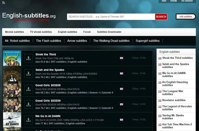تنزيل ترجمات الأفلام مواقع الترجمة باللغة الإنجليزية