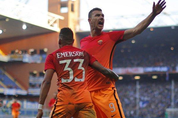 Dzeko Emerson Roma
