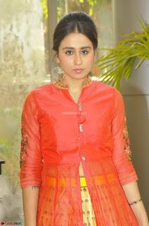 Simrat in Orange Anarkali Dress 17.JPG