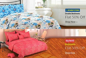Hot Price: Raymonds & Bombay Dying Bedsheets – Minimum 50% Off @ Flipkart