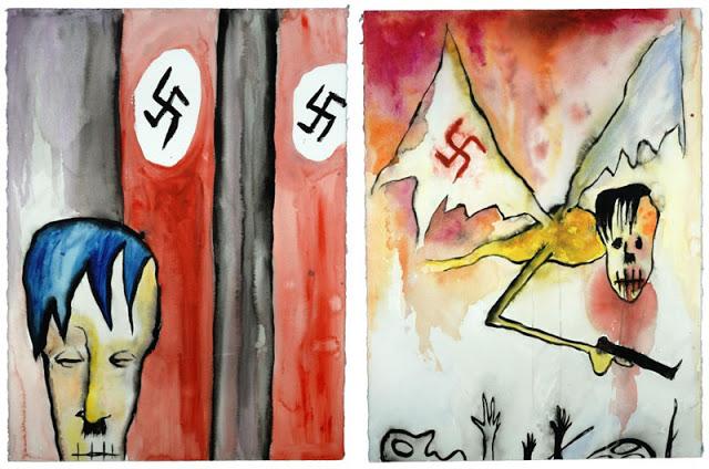 Hitler Takes a Nap e  Vampyr, pinturas de Marilyn Manson.