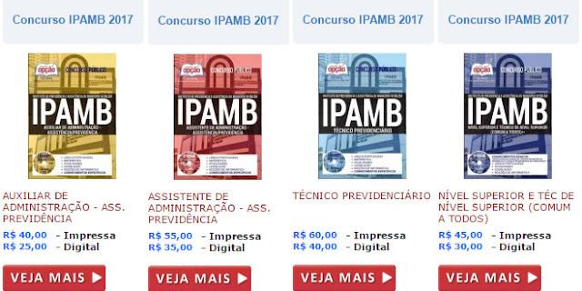 acessar apostila concurso ipamb 2017