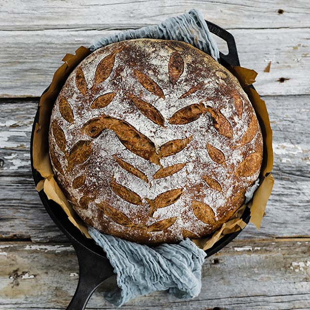 INTERNATIONAL:  FRENCH:  Classic Boule Recipe with Poolish WITH step-by-step PHOTO directions and QUIVK LINKS