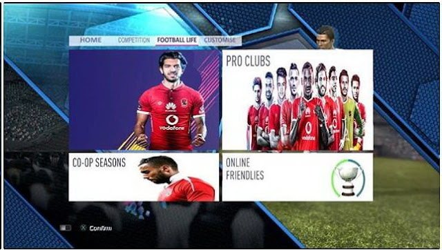 Al-Ahly Graphic Menu PES 2013