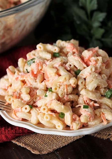 Plate of Hawaiian Macaroni Salad Image