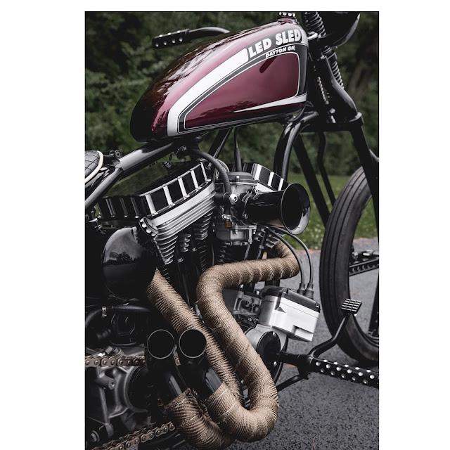 Harley Davidson Sportster By Led Sled Customs Hell Kustom