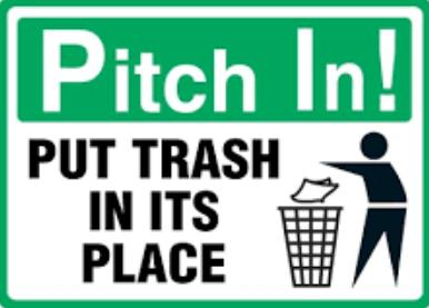 contoh penggunaan imperative sentence dan cara membuang sampah