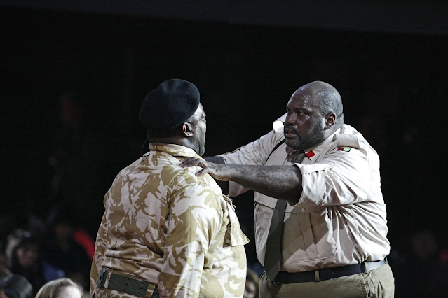 Verdi: Otello - Keel Watson (Iago) and Ronald Samm (Othello) in Birmingham Opera Company's 2009 production