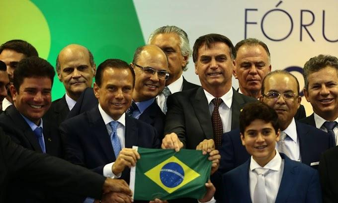 Bolsonaro pede apoio de governadores para congelar salários de servidores para sansionar o projeto de socorro a estados e municípios