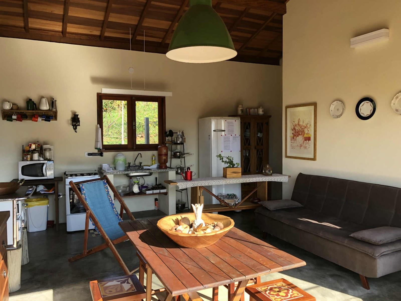 Casa verde em Gonçalves