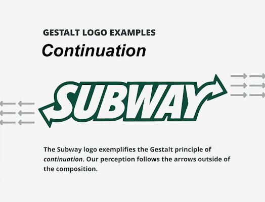أمثلة علي مفهوم الجيستالت في تصميم الشعارات