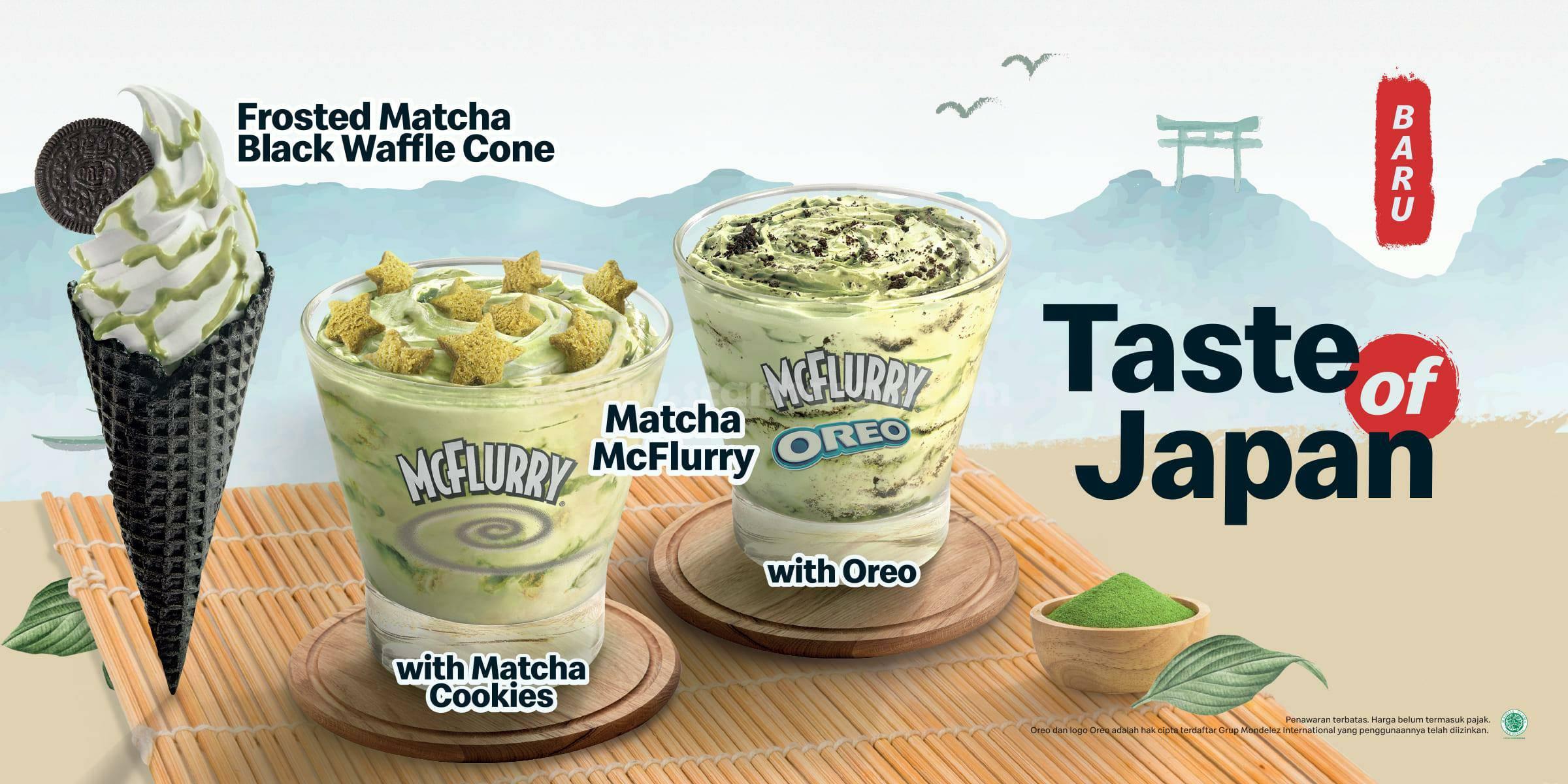 Promo McDonalds Matcha McFlurry Taste Of Japan